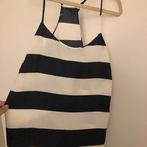 Navy and white striped Jcrew Cami